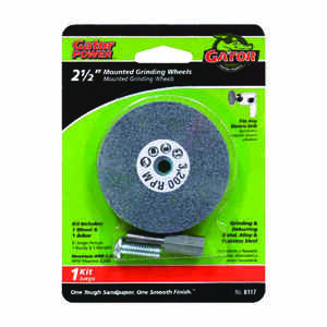Gator  2-1/2 in. Dia. x 3/8 in. thick  x 1/4 in.   Grinding Wheel  3200 rpm 1 pc.