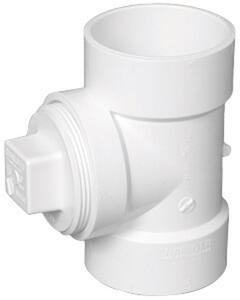 Charlotte Pipe  4 in. Hub   x 4 in. Dia. Hub  PVC  Cleanout Tee