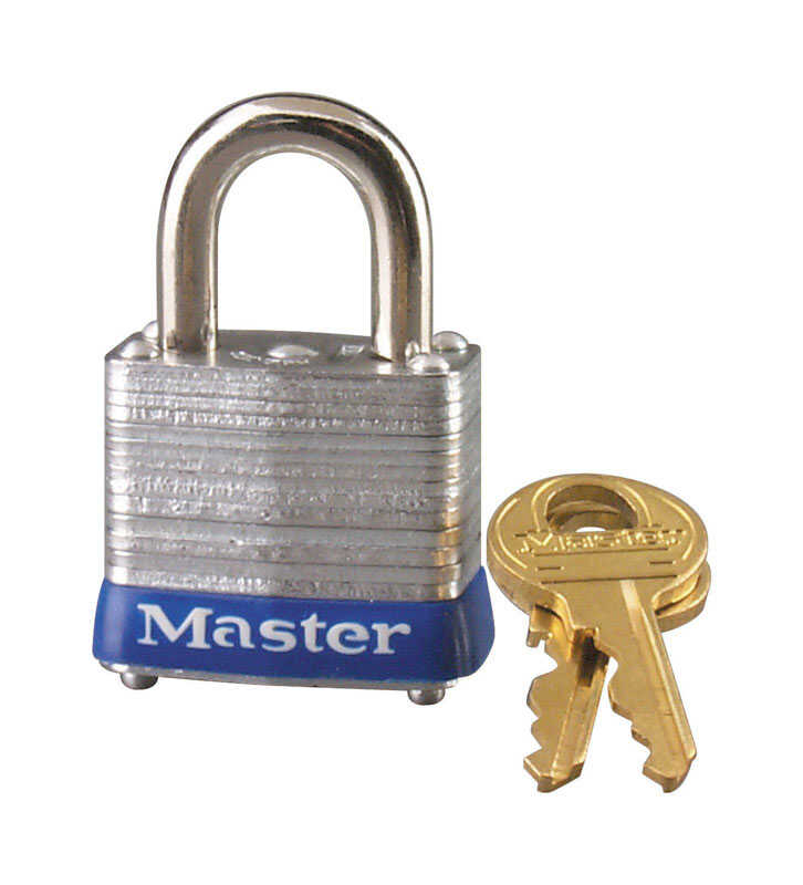 Master Lock  1 in. H x 11/16 in. W x 1-1/8 in. L Laminated Steel  4-Pin Cylinder  6 pk Keyed Alike P
