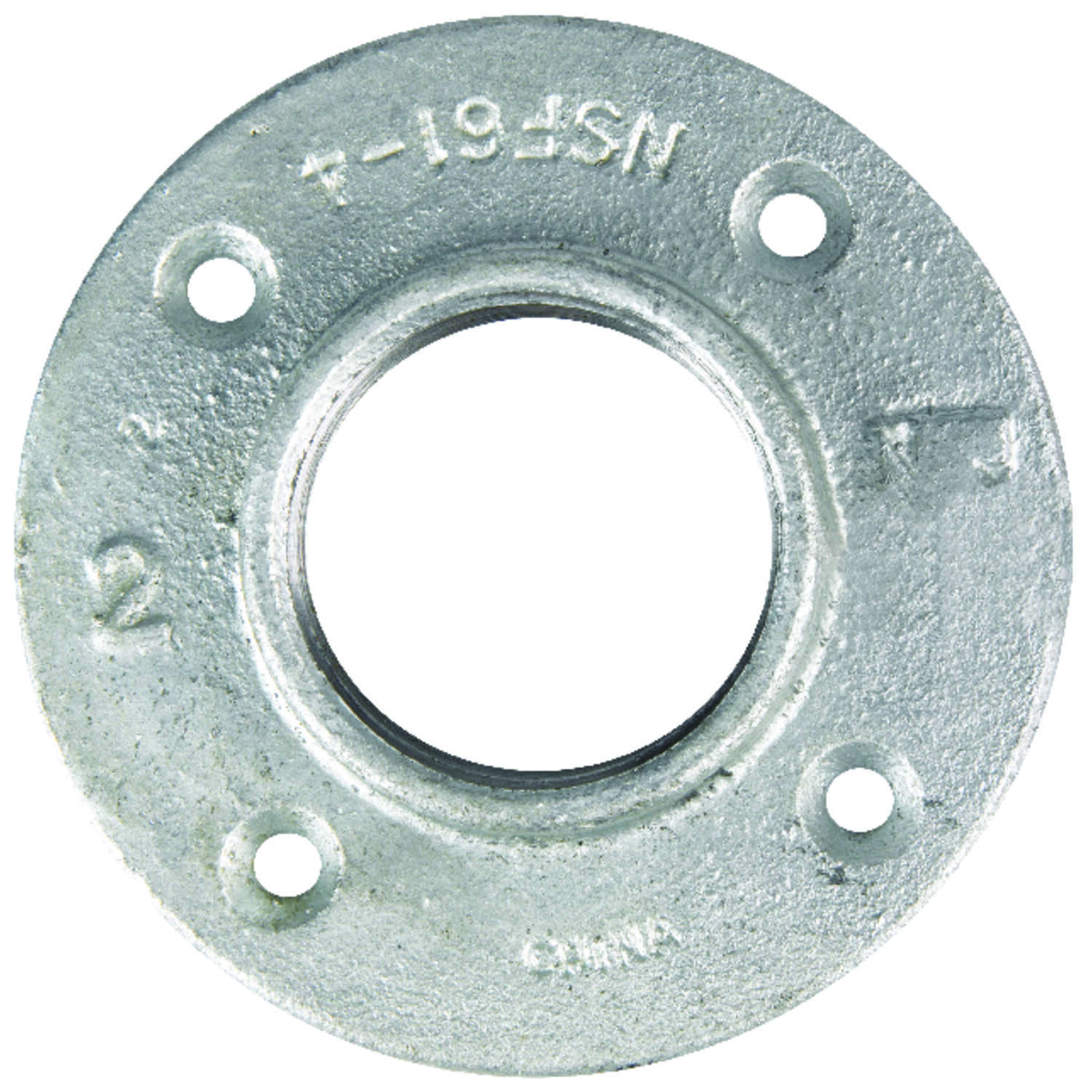 B & K  2 in. FPT   Galvanized  Malleable Iron  Floor Flange