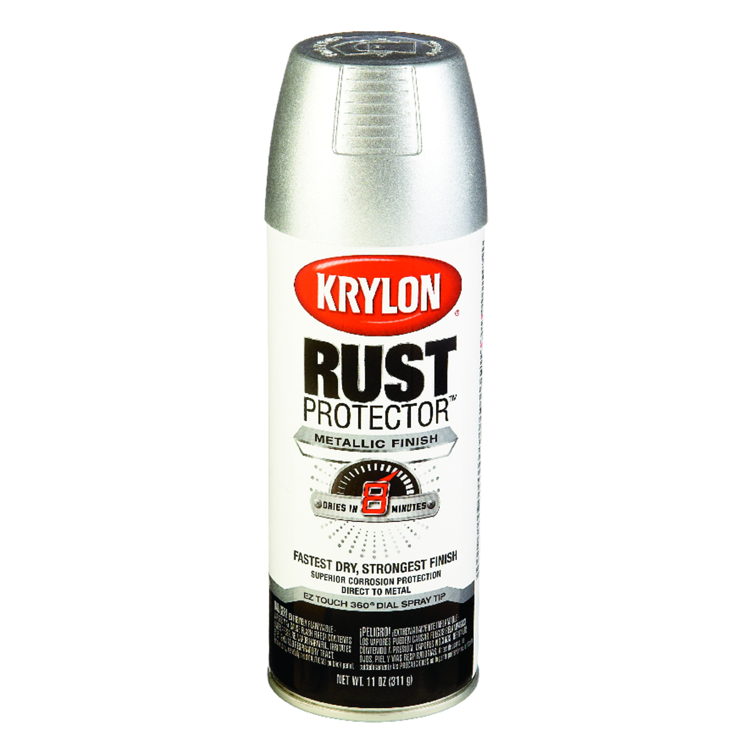 Krylon  Rust Protector  Brilliant  Aluminium  Spray Paint  12 oz.