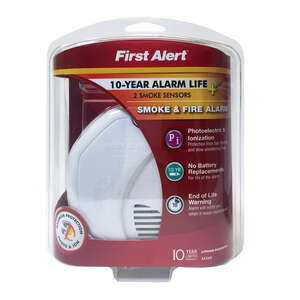 First Alert  Battery-Powered  Photoelectric/Ionization  Smoke and Fire Alarm