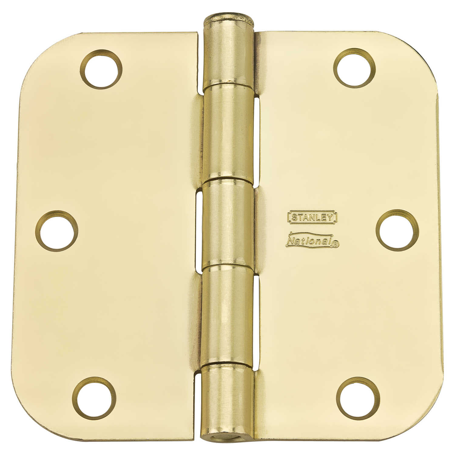 National Hardware  3-1/2 in. L Satin Brass  Steel  Door Hinge  12 pk