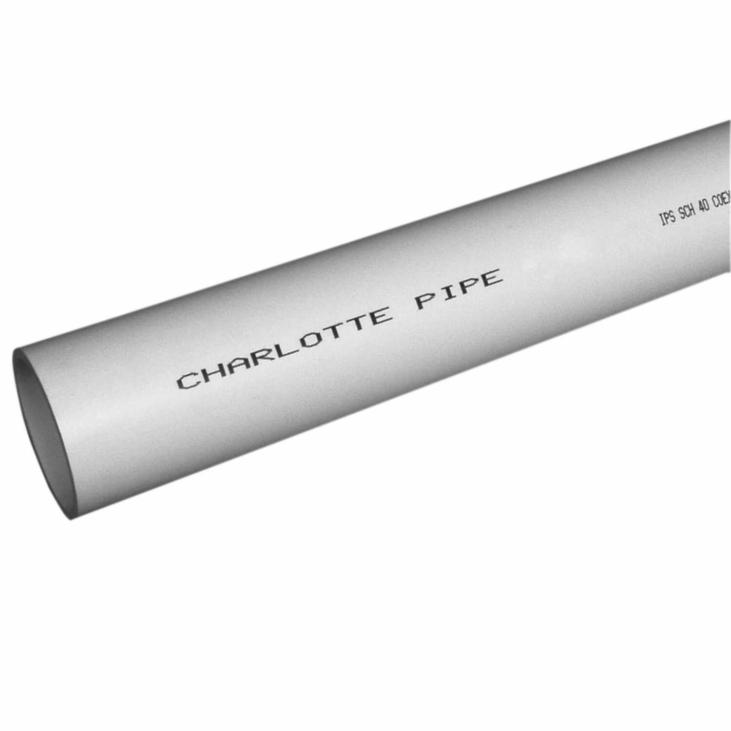 Charlotte Pipe  PVC Foam Core Pipe  2 in. Dia. x 20 ft. L Plain End  Schedule 40