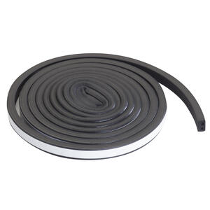 M-D Building Products  Black  EPDM Rubber Foam  Weatherstrip  For Auto and Marine 10 ft. L x 5/16 in