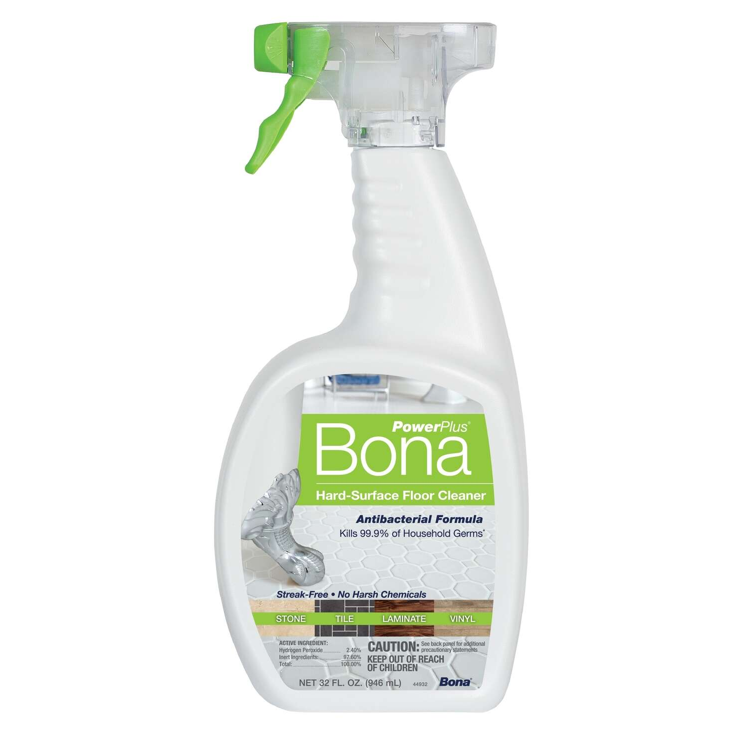 Bona  Power Plus  Floor Cleaner  Spray  32 oz.