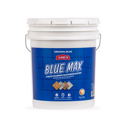 Ames  Blue Max Liquid Rubber  Translucent Blue  Water-Based  Waterproof Sealer  5 gal.