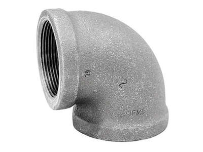 Anvil  1/2 in. FPT   x 1/2 in. Dia. FPT  Black  Malleable Iron  90 Degree Elbow