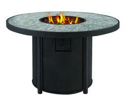 Living Accents  Round  Propane  Fire Pit  25 in. H x 42 in. W x 42 in. D Steel