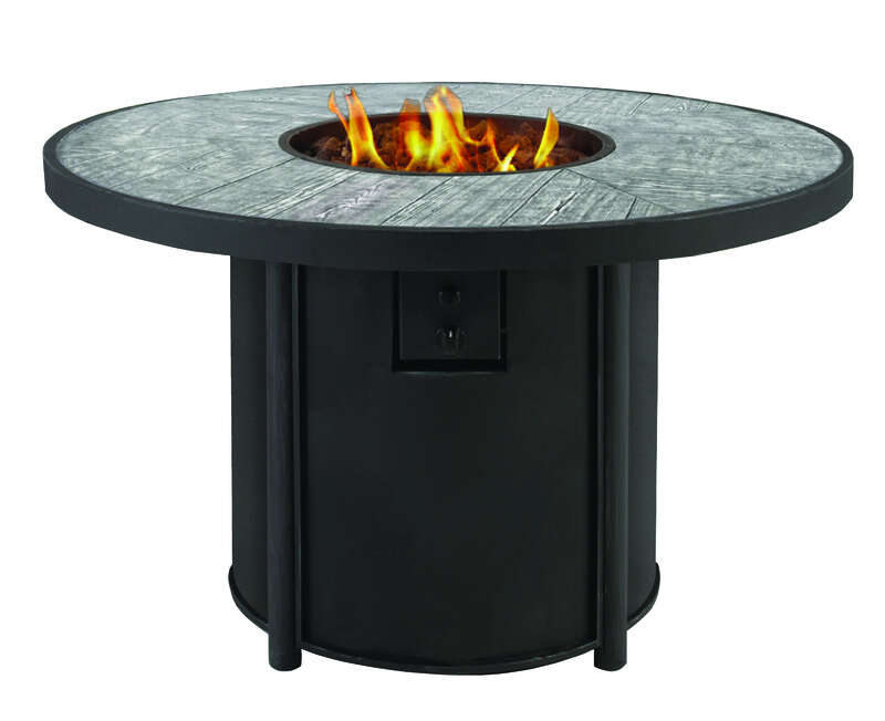 Living Accents Round Propane Fire Pit 25 in. H x 42 in. W ... on Propane Fire Pit Ace Hardware id=33725