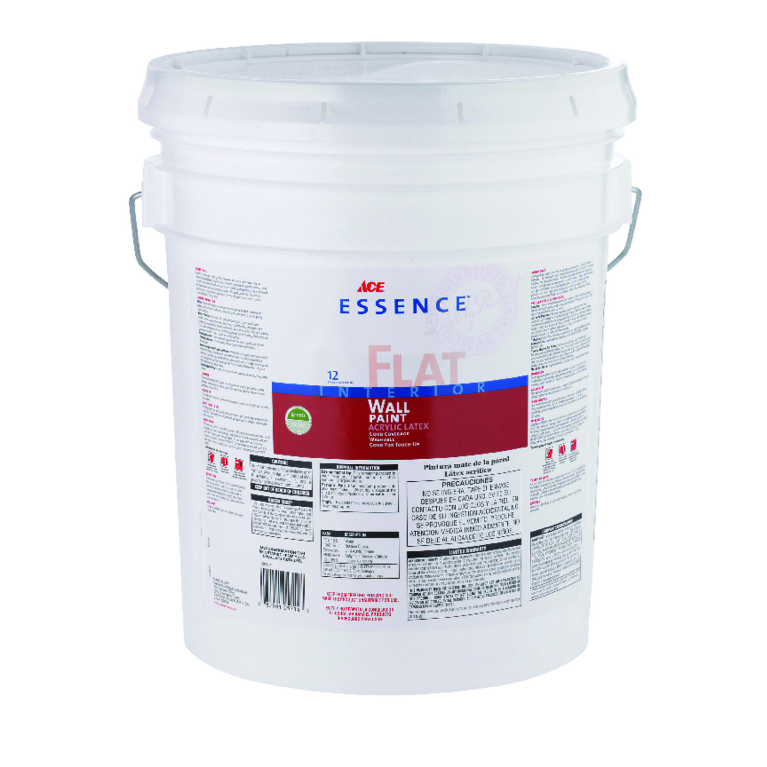 Ace  Essence  High Hiding White  Acylic Latex  5 gal. Paint  Flat