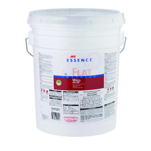 Ace  Essence  Flat  High Hiding White  Acrylic Latex  Paint  5 gal.