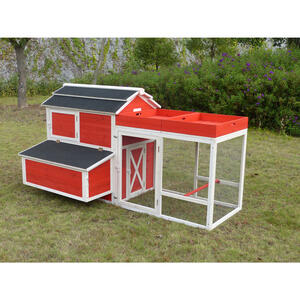 Merry Products  6 Chickens  Firwood  Red Barn Chicken Coop