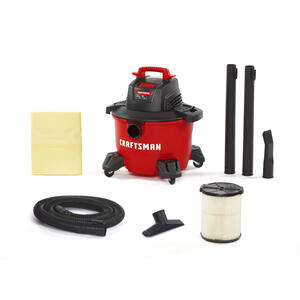 Craftsman  6 gal. Corded  Wet/Dry Vacuum  7.5 amps 120 volt 3.5 hp Red  15 lb.