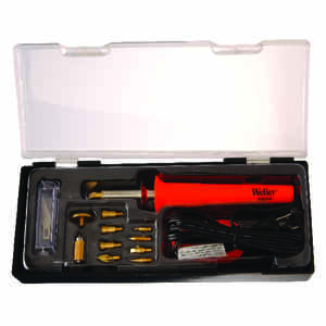 Weller  Cooper Tools  9.9 in. Corded  Wood Burning Iron Kit  25 watts Black  1