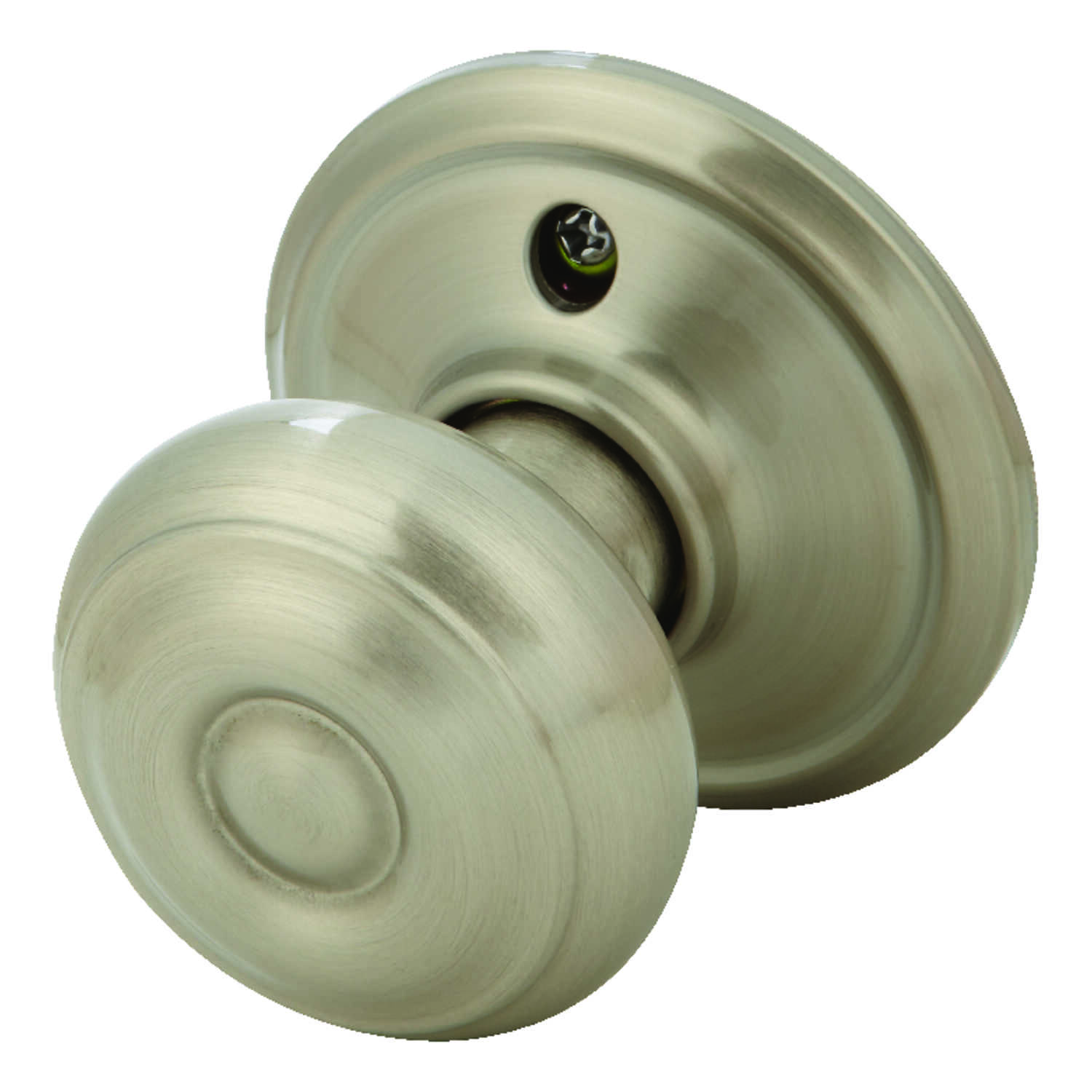 Schlage  Georgian  Satin Nickel  Steel  Dummy Knob  2 Grade Right or Left Handed
