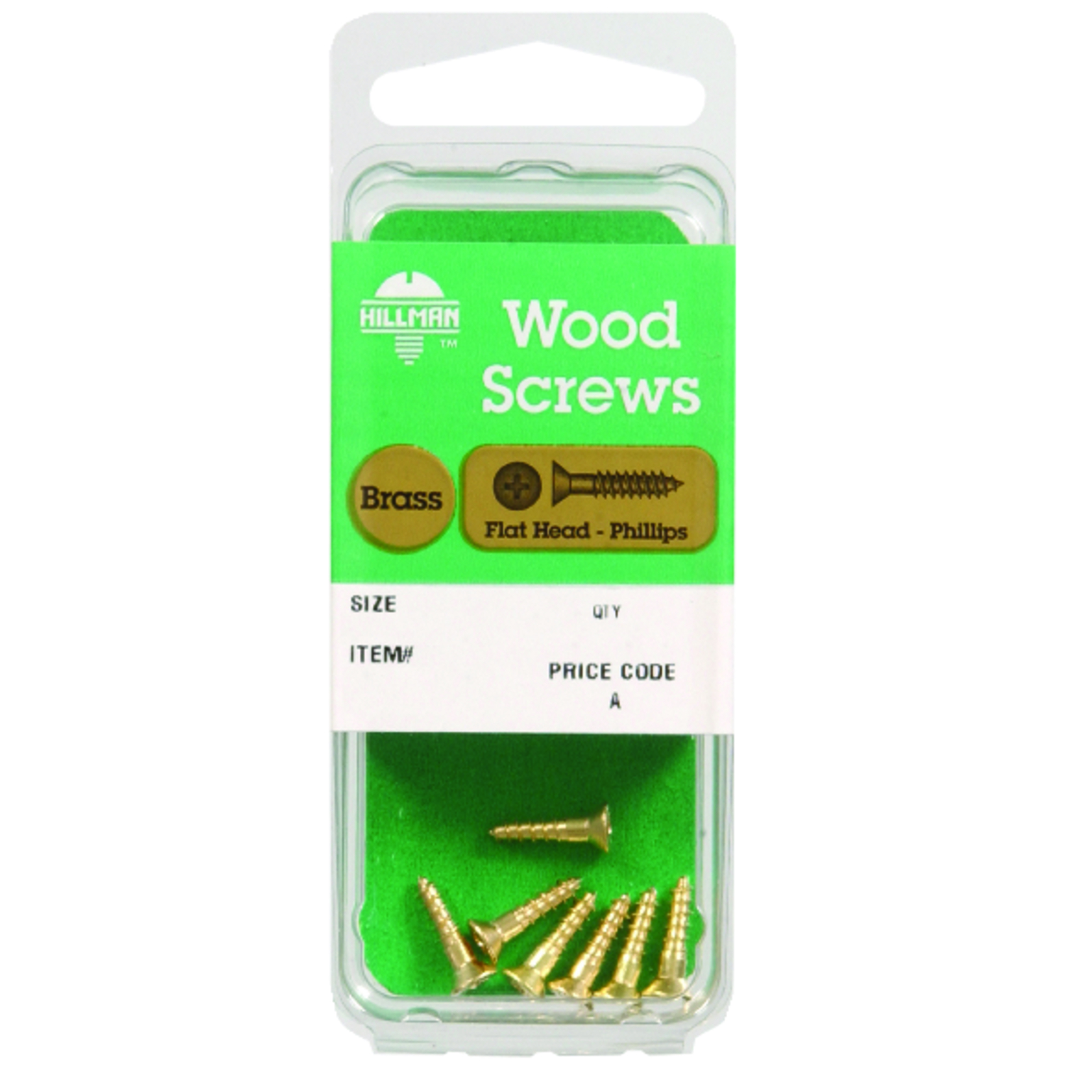 HILLMAN  No. 8   x 2 in. L Phillips  Flat  Brass  Wood Screws  2 pk