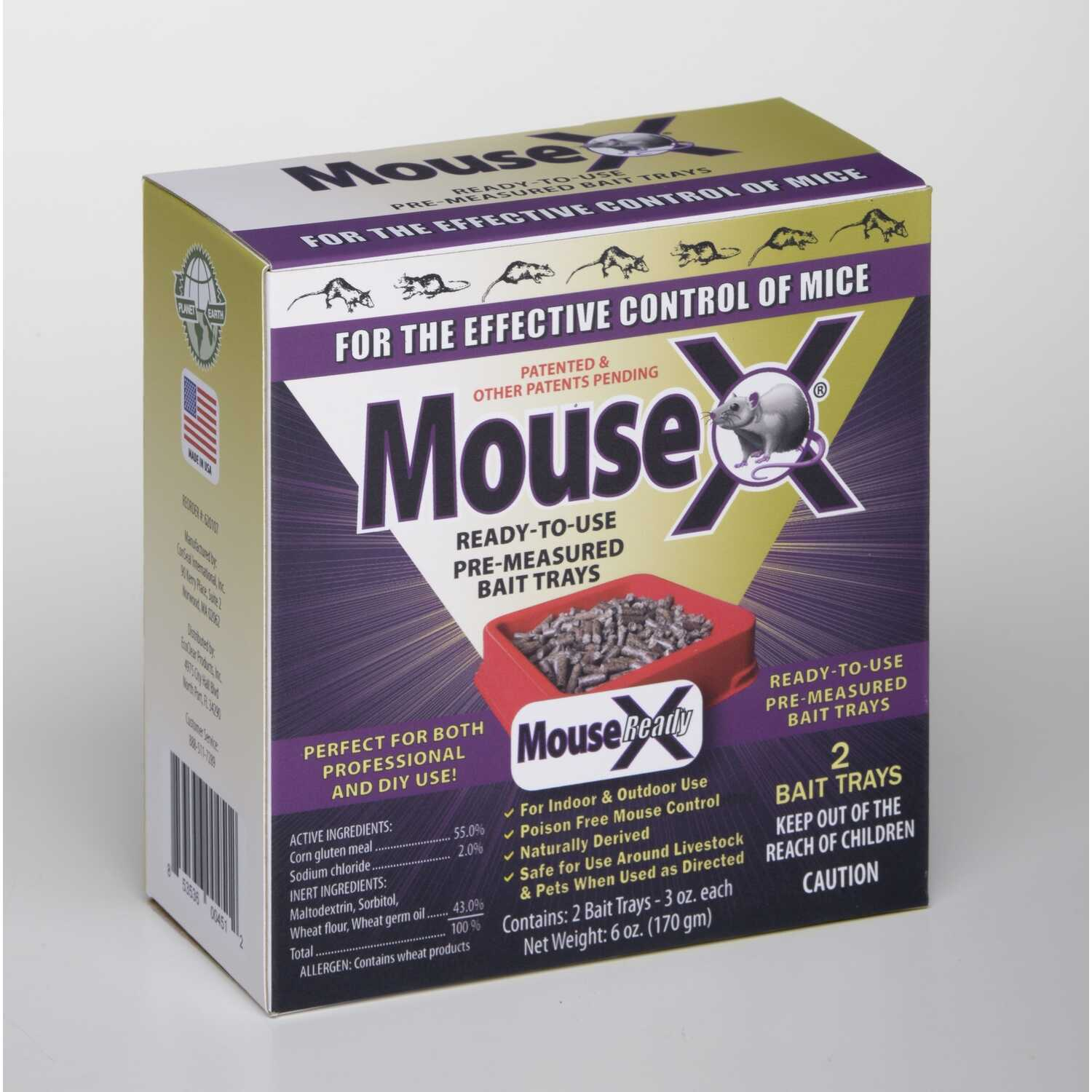 MouseX  For Mice/Rats Killer  2 pk