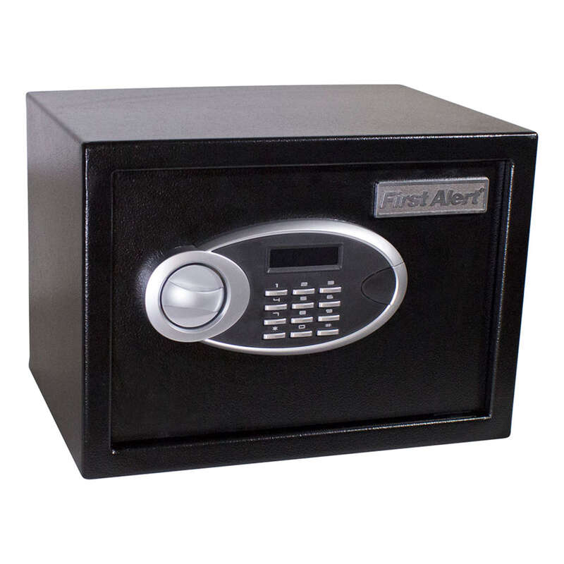 First Alert  0.57 cu. ft. Dual-Lock  Black  Anit-Theft Safe