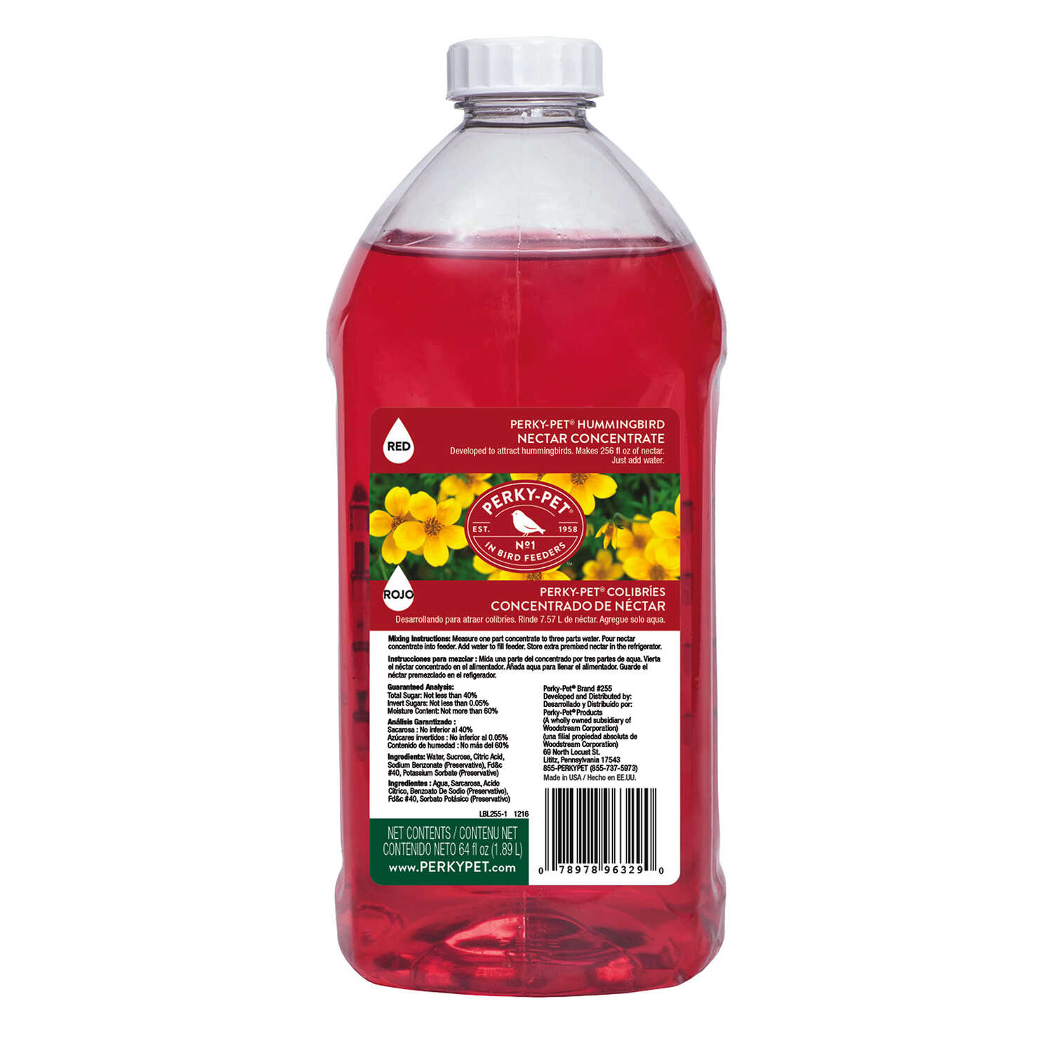 Perky-Pet  Hummingbird  Nectar Concentrate  Sucrose  64 oz.