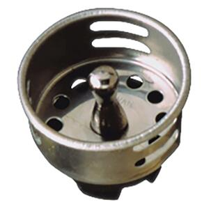 Plumb Pak  Jr. Duo  2.6 in. Dia. Brushed  Stainless Steel  Strainer Basket