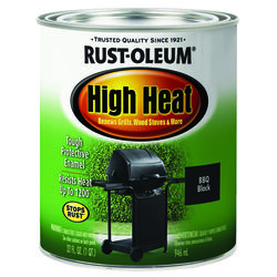 Rust-Oleum  Specialty  Flat  Black  Oil-Based  High Heat Enamel  1 qt.