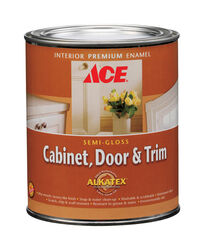Ace  Semi-Gloss  Tintable Base  Mid-Tone High-Hide Base  Alkyd-Latex Hybrid  Cabinet and Trim Paint