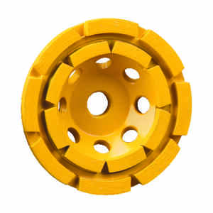 DeWalt  Extended Performance  4-1/2 in. Dia. x 1.5 in. thick  x 5/8 in.   Diamond  Cup Grinding Whee