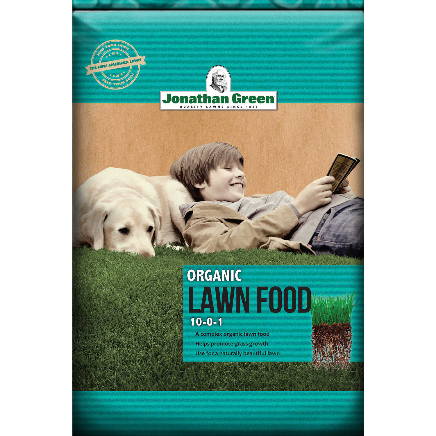 Jonathan Green  Organic  Organic 8-0-1  Lawn Food  For All Grass Types 40 lb. 15000 sq. ft.