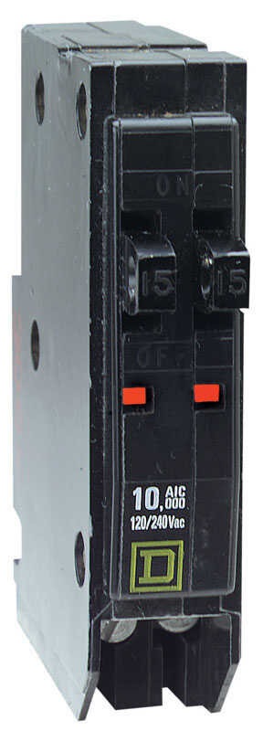 Square D  QO  15/15 amps Tandem  Single Pole  Circuit Breaker