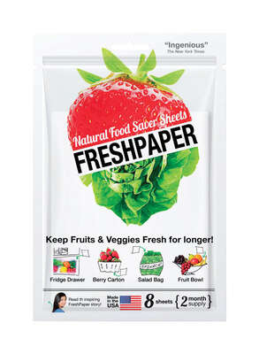 HIC  Fresh Paper  Produce Saver Sheets  1 pk White