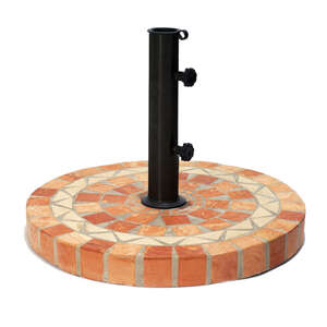 Outdoor Interiors  Multicolored  20 in. W x 17 in. H Terracotta  Umbrella Base