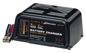 Schumacher  Manual  12 volts Battery Charger  2 amps