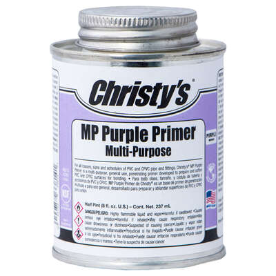 Christys  Purple  Primer and Cement  For CPVC/PVC 8 oz.
