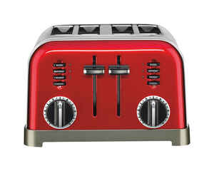 Cuisinart  Semi-Gloss  Red  Toaster  7.4 in. H x 11.14 in. W x 10.67 in. D