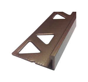 M-D Building Products  96 in. L Prefinished  Bronze  Aluminum  Tile Edge