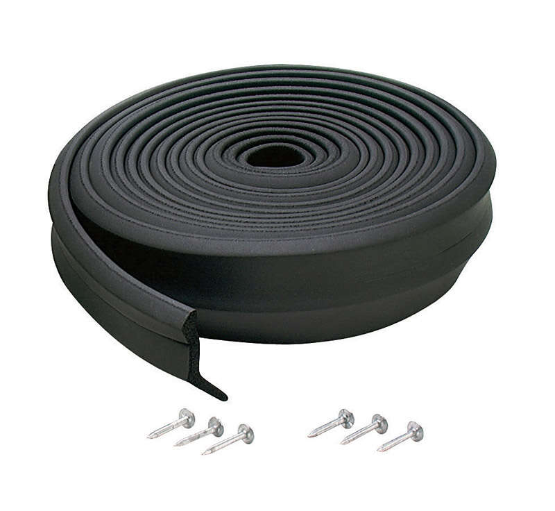 M-D  Black  Rubber  Door Set Seal  For Garage Doors 16 ft. L x 1 in.