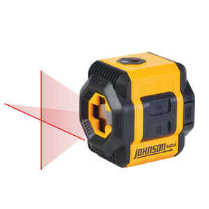 Johnson  2 beam Self Leveling Cross-Line Laser  2-1/2 in. L x 5-3/4 in. W Yellow  Indoor and Outdoor