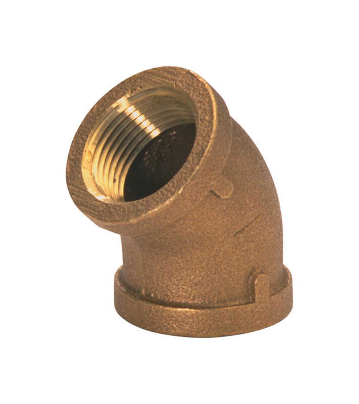 JMF  1 in. Dia. x 1 in. Dia. FPT To FPT To Threaded  Red Brass  Elbow