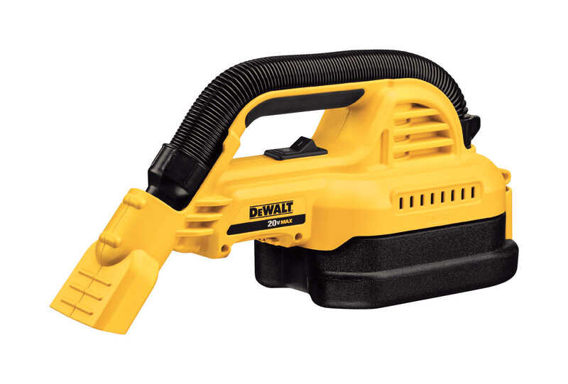 DeWalt  Max  1/2 gal. Cordless  Portable Wet/Dry Vacuum  20 volt Yellow  4.5 lb. 1 pc.