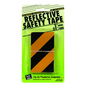 Hy-Ko  24 in. Rectangle  Black/Yellow  Reflective Safety Tape  5 pk