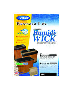 Best Air  Humidifier Wick  1 pk