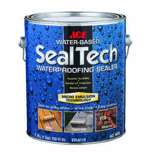 Ace  SealTech  Smooth  Clear  Water-Based  Multi-Surface Waterproofer  1 gal.