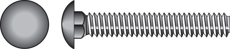 HILLMAN  1/4  Dia. x 2-1/2 in. L Stainless Steel  Carriage Bolt  25 pk