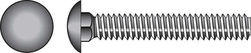 Hillman  1/4 in. Dia. x 2-1/2 in. L Stainless Steel  Carriage Bolt  25 pk