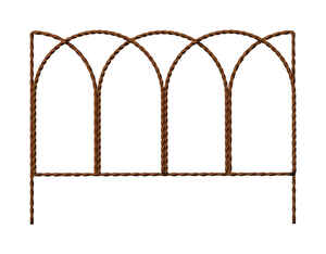 Master Mark  20 in. L x 14 in. H Steel  Brown  Leaf Border Edging