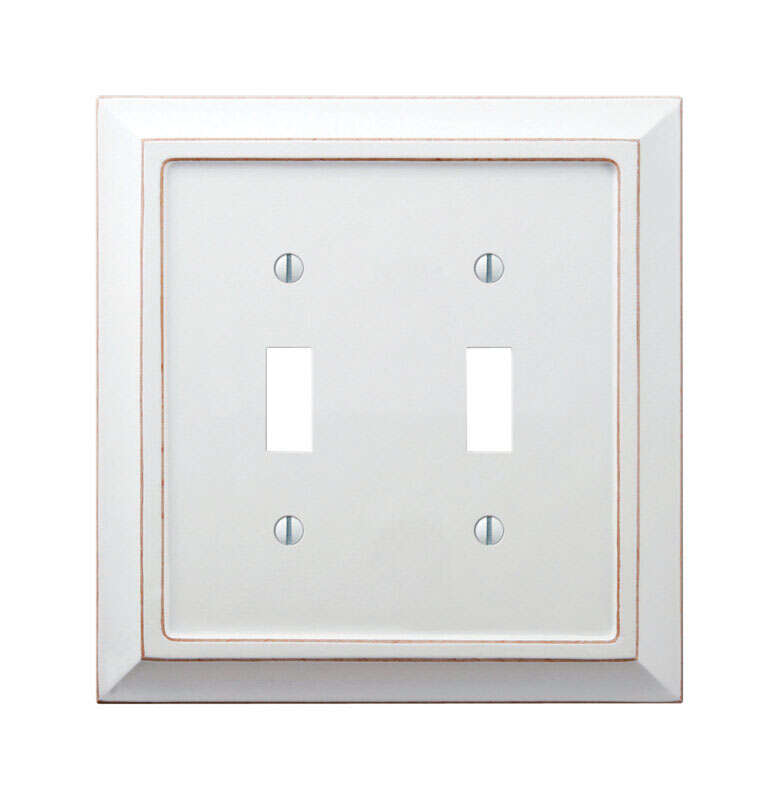 Amerelle  Savannah  White  2 gang Wood  Toggle  Wall Plate  1 pk