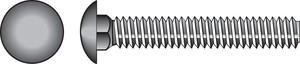 Hillman  1/4 in. Dia. x 3/4 in. L Zinc-Plated  Steel  Carriage Bolt  100 pk