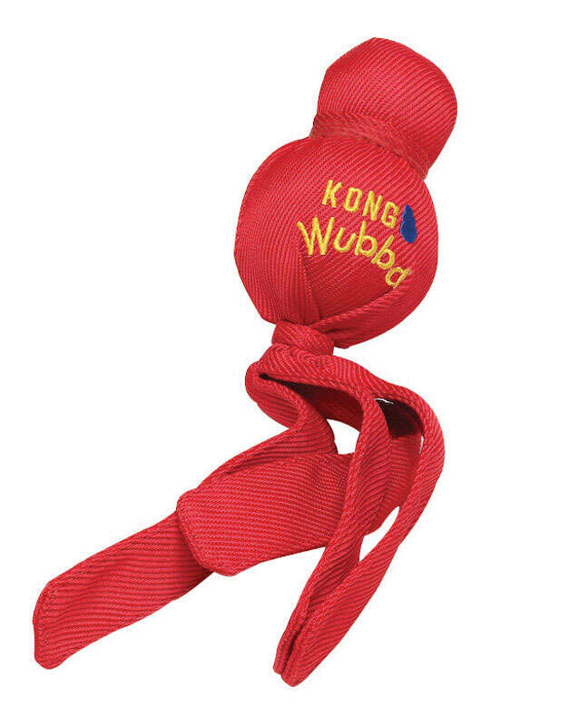 Kong  Red  Chew  Rubber  Wubba Dog Chew Toy  Large