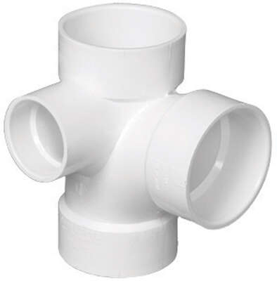 Charlotte Pipe  Schedule 40  3 in. Hub   x 3 in. Dia. Hub  PVC  Sanitary Tee with Left Side Inlet